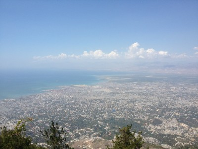 Overlooking Port-au-Prince from the mountainside.